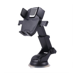 Titulares Universal Mobile Phone Car Mounts 360 ° Rotating do carro pára-brisa desktop Suportes para iPhone Samsung Huawei dobrável retrátil