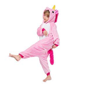 EOICIOI kigurumi Pijamas de pijama natal meninos das crianças Estrelas Baby Pink Unicorn meninas sleepwear crianças Pegasus onesie