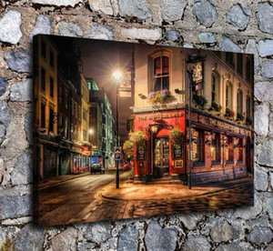 Street In London HD Art Print Original Oil Painting on Canvas high quality Home Wall Decor,Multi Sizes Options,Free Shipping,City scenery C7