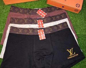 LNNN1 2020 Breve Boxer For Man Underpanties Sexy Underwear Mens Boxers algodão Underwear Shorts Peixe Padrão 3pcs Masculino Boxer Shorts