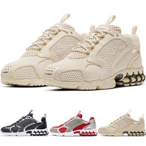 nike Stussy x Air Zoom Spiridon CG 2 Hava yakınlaştırma spiridon kafesi 2 stussy fosil PURE PLATİN Kadınlar Erkekler hococal Koşu Ayakkabı Sneakers CQ5486-200 CU1854-001