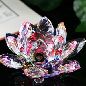 60 мм Лотос Кристалл кварц Кристалл цветок лотоса ремесла стекло пресс-папье фэншуй украшения статуэтки главная свадьба декор