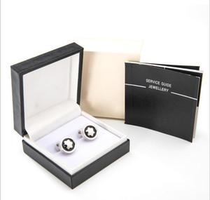 Оптовая цена продвижение-роскошный человек запонки ювелирные изделия мужская рубашка запонки медные манжеты кнопки, как рождественские подарки есть коробка