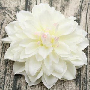 15CM Gran ramillete de seda artificial headdr dahlia crisantemo flores hechas a mano DIY decoración del hogar cabeza