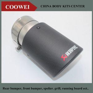 1pcs de entrada (70 mm) de escape Akrapovic fibra de carbono tubo de escape de aire Fin Consejos alta calidad del coche universal