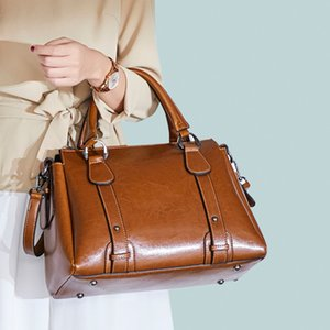 2020 новая мода senior sense simple wild leather cowhide bag одно плечо диагональная портативная женская сумка 30*21*14 подушка сумка