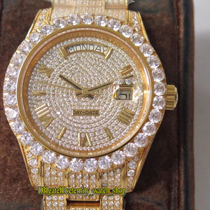 TWF 126333 118348 86409 Diamond Dial ETA A2836-2 Automatik Herren-Uhr-18K Rose-Gold-904L Stahl Iced Out Diamant Fall Iced Out Voll Uhren
