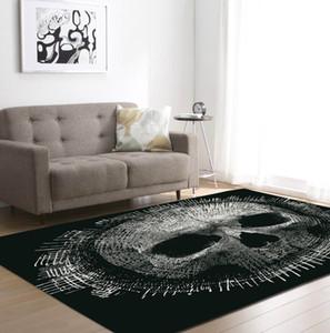 Sale Home textiles Home textiles Fashion Black Skull Cool Carpet Big Size Originality Bathroom Door Mat Absorbent Floor Mat Crystal Velvet