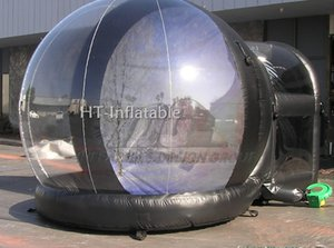 Free Shipping 4M New Year Cheap Custom Christmas Inflatable Empty Photo Human Size Snow Globe Photo Booth with Tunnel