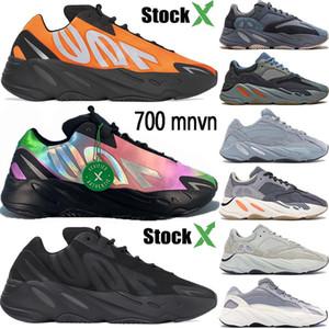 New 700 Runner Kanye Orange Phosphor Bone Mens Women Carbon Teal Blue Static Sports inertia Vanta Running Shoes stylist Sneakers