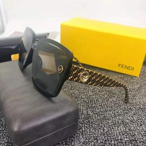 2019 Neuer Verkauf Luxury- Qualitäts-klassischer Pilot Classic Buchstaben große Rahmen Sonnenbrille Brillen Metall-Glas-Linsen 7 Farbe