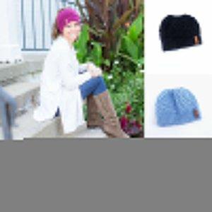 Nueva manera caliente muchachas de las mujeres calientes Vaciar Stretch Knit Beanie Sombreros Cola de caballo Holey Sombreros de invierno