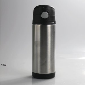 12oz Bounce Cup Insulated Stainless Steel Vacuum Mugs Double Wall Tumbler With Bounce Cover And Straws with sea shipping CCA12129 100pcs