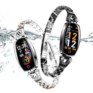 Neue kreative mode damen H8 herzfrequenz schrittzähler fitness überwachung 0,96 zoll farbbildschirm IP67 wasserdicht sport smart watch armband