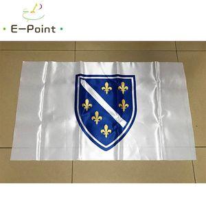 Bandera de Bosnia y Herzegovina 1992-1998 3 * 5 pies (90 cm * 150 cm) Bandera de poliéster Decoración de bandera Bandera del jardín de su casa volando Regalos festivos