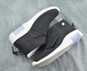 Nueva manera miedo de Dios Hombre Blanco Negro zapatos de baloncesto informal barato FOG1 Mediados mocasín de las zapatillas de deporte de moda deportiva botas de alta calidad con la caja