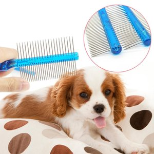 19cm Comb Dog Supplies Pet Supplies Double sided Professional Steel Grooming Comb Dog Cat Cleaning Brush 1