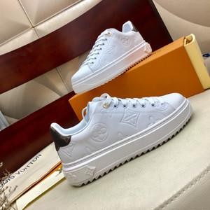 Hot Femmes Chaussures SNEAKER TIME OUT Chaussures Designer cuir embossé Plateforme des femmes noires des espadrilles blanches avec la boîte