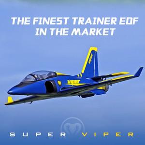 Impeller EDF Super-Viper Jet Trainer Blau 6S 6CH 70mm FMS mit Einziehfahrwerk Flaps EPO PNP RC Flugzeug-Modell Flugzeug Flugzeug Avion Y200317