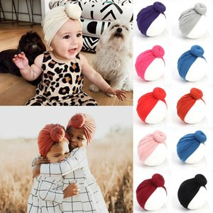 11 Colors Kid Girl Baby Girl Hats Cotton Solid Soft Broad Headband Toddler Solid Turban Hair Band Accessories