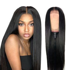 360 кружева парик прямые человеческие волосы парики для женщин перуанский видов парик предварительно сорванные 150% плотность Бесплатная доставка