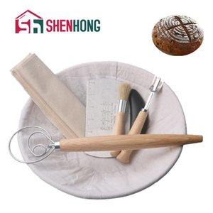 Shenhong Fermentation Rondes Proofing Dougn rotin panier Pays Français Pain Banneton Baguette Brotform Paniers Moule Y200612