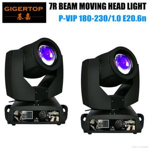 TIPTOP TP-7R 2 PACK 230W 7R Sharpy Beam Moving Head Light 16CH / 20CH Dual Mode 16 Prisma con gelo obiettivo Roller menu di conferma