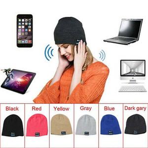 Música Bluetooth Beanie Hat Cap Smart Wireless Headset auriculares Altavoz Micrófono manos libres Música Gorro de lana ZZA1434-7 20pcs