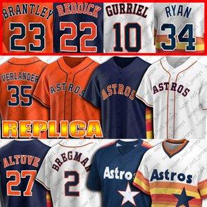 Özel 27 Jose Altuve Jersey 2 Alex Bregman Formalar Nolan Ryan Jersey Craig Biggio Justin Verlander Bagwell Springer Correa Beyzbol Jersey