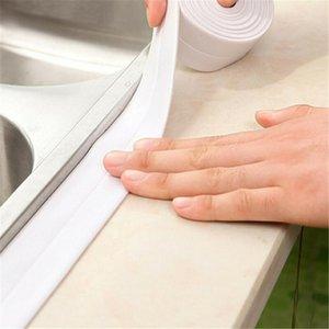 Auto-adhésif résistant à la saleté Pvc anti-moisissure étanche bande de cuisine évier salle de bains commune Crevasse Autocollant calfeutrer Strip Strip