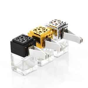 Deodorante per auto diffuso personalizzato fragranza appeso 8ml vuoto quadrato auto condizionatore d'aria uscita Vent Clip bottiglia di profumo