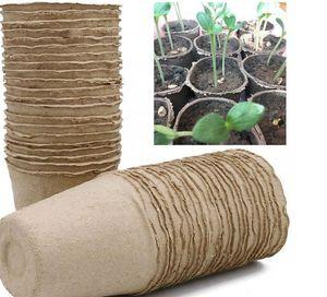 8*8cm Garden Plant Nursery Pulp Pots Biodegradable Seedling Raising Cups Biodegradable Flower Tray Raising Cups 2000pcs LJJK2021