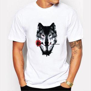 New hot sell fashion men's short sleeve black rose Printed t-shirt Man O-neck cool tops free shipping