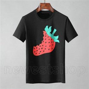Designer Luxus-Kleidung für Herren Europa Italien T-Shirt Erdbeerefrucht Buchstabedruckes T-Shirts Farbe beiläufigen Frauen-T-Shirts T-Shirt T-Top
