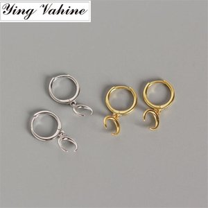 ying Vahine New Arrival 100% 925 Sterling Silver Exquisite lua pingente pequeno brincos para mulheres