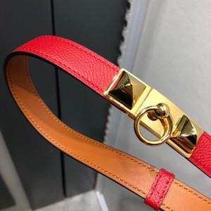 Ultime Kelly nastro biadesivo in pelle testa della cinghia squisita, nobildonne, lussuoso e di buon gusto cinture di design 1.8CM h cintura
