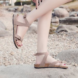 Customize 2020 New Sandals Woman Shoes Gladiator Women Open Toe Women's Beach Cross Straps Ladies Roman Plat Female Casual Fashion Summer