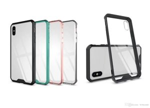 Armor Transparent Clear Air Hybrid Phone Case For iPhone 6 7 8 Plus X XS MAX Samsung Note 9 S8 S9 A8 2018 Plus TPU Bumper Cover OPP Bag