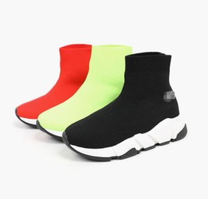 Wholesale Sell Childrens Kid Sock shoes Vetements crew Sock Runner Trainers Shoes Kids Shoes Hight Top Sneakers Boot Eur 24-35