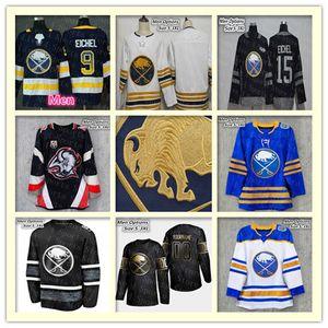 2020 Buffalo Sabres Negro Blanco Golden Hockey Jersey Kyle Okposo Rasmus Ristolainen Jimmy Vesey Colin Miller Bogosian Montour Mujeres Niños