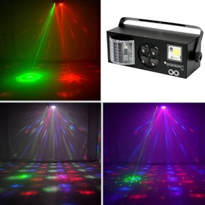 4 in 1 Etkisi Işık Karışık Strobe Par Lamba Disko RGBW LED Kristal Top DMX Işın DJ Parti Gösterisi Sahne Projektör lazer Işık Noel Partisi