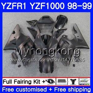 Karosserie für YAMAHA YZF R 1 YZF1000 YZF-R1 1998 1999 Rahmen 235HM.49 YZF-1000 Mattschwarzes heißes YZF R1 98 99 YZF 1000 YZFR1 98 99 Karosserieverkleidung