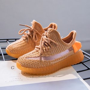 kids True Form Hyperspace Clay Static Running Shoes Kanye West Bred Fashion Athletic Outdoor Sport Sneakers