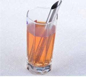 Kostenloser Versand! Edelstahl Filter Tee Sticks Teelöffel Sieb Siebe Schräge Tee Stick Rohr Tee-ei Pflegestift 10 teile / los