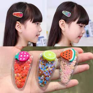 Kızlar Çocuk Yeni Şeffaf Tokalar Moda Çocuk PVC BB Klipler Karikatür Saç Aksesuarları İçin Meyve Saç Klipler