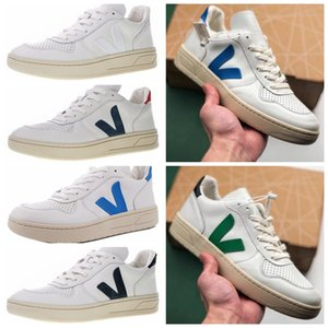 New VEJA ESPLAR extra Casual Leather Sneakers V Moda Triplo Homens Mulheres Luxo Superstar Branca Chaussures Sports Correndo Formadores Shoes