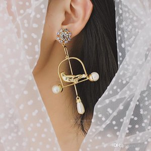 2019 New Arrival Fashion Euramerican Baroque Vintage Style Brand Jewelry Gold Bird Earrings Big Circle Pendientes Bridal Accessories Women