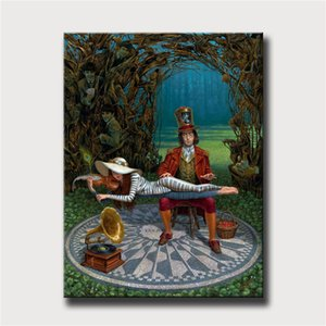 Michael Cheval,Strawberry Fields,HD Canvas Printing New Home Decoration Art Painting (Unframed Framed)