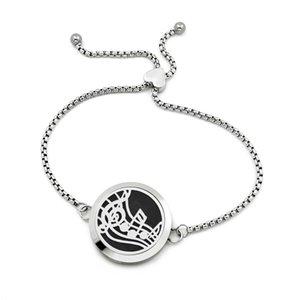 30 мм круглый регулируемый духи медальон Сердце браслет эфирное масло диффузор браслеты ювелирные изделия из нержавеющей стали 316L (бесплатная накладка) AD101-120-Z03