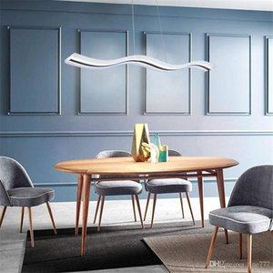 Araña de restaurante LED de estilo moderno simple lámpara de mesa de barra de personalidad acrílico lámpara de onda S grande nórdica